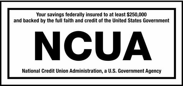 Black NCUA logo